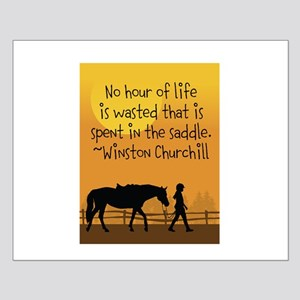 Horse and Child Small Poster