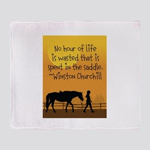 Horse and Child Throw Blanket