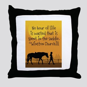 Horse and Child Throw Pillow