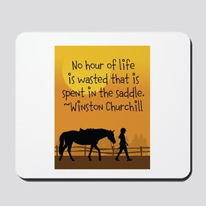 Horse and Child Mousepad