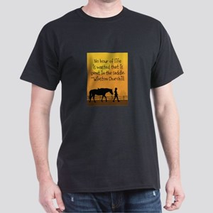 Horse and Child Dark T-Shirt