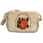Gaelic Harvest Pumpkin Messenger Bag