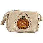Gaelic Carved Pumpkin Messenger Bag