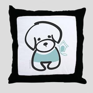 Bichon Frise Puppy Throw Pillow