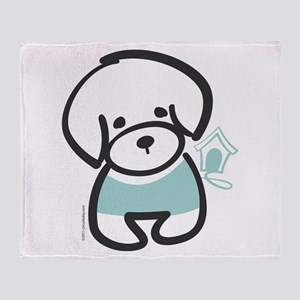 Bichon Frise Puppy Throw Blanket