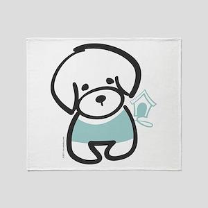 Bichon Frise Puppy Throw Blanket