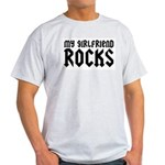 My Girlfriend Rocks Ash Grey T-Shirt