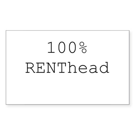 RENThead Rectangle Sticker