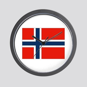 Norwegian Flag Wall Clock