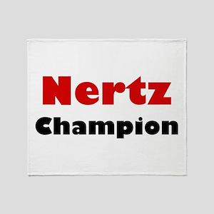 Nertz Champion Throw Blanket