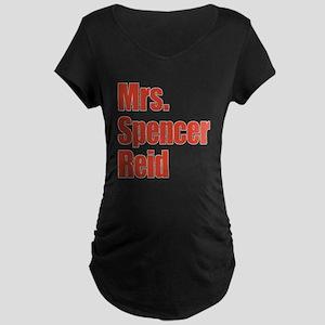 Mrs. Spencer Reid Criminal Minds Maternity Dark T-