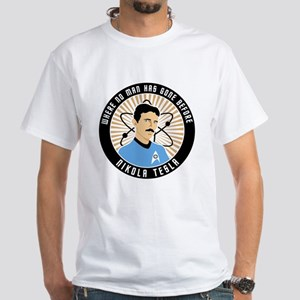 Science Officer Tesla White T-Shirt