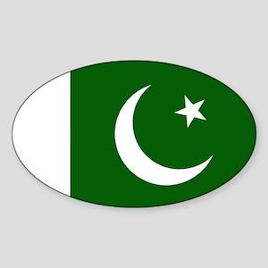 Pakistani Flag Oval Sticker