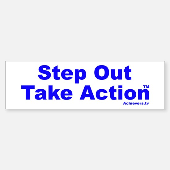 Step Out Take Action TM Sticker (Bumper)