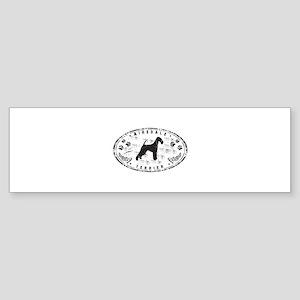 Grunge Airedale Sticker (Bumper)