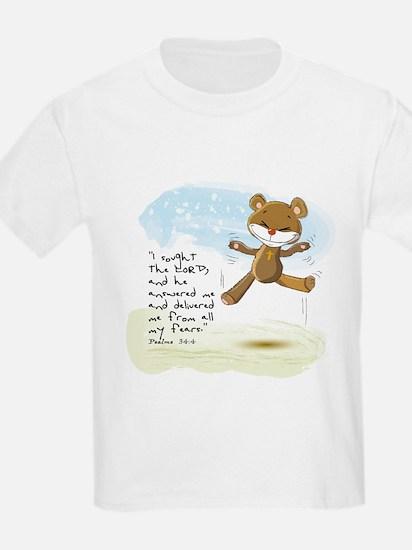 Psalms 34:4 Bible verse T-Shirt