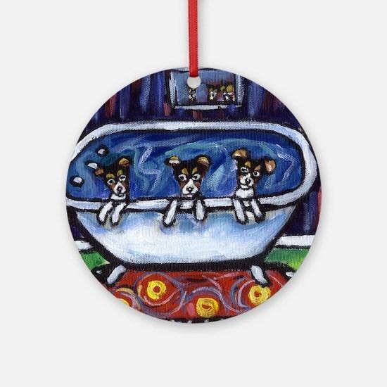 RATTIE bath time Ornament (Round)