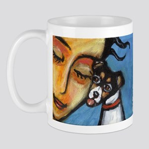 Rattie kisses lady Mug