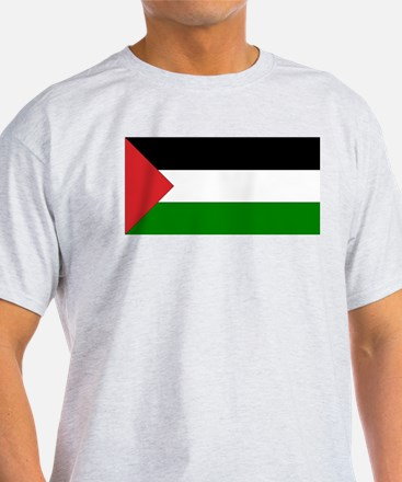 Palestinian Flag Ash Grey T-Shirt