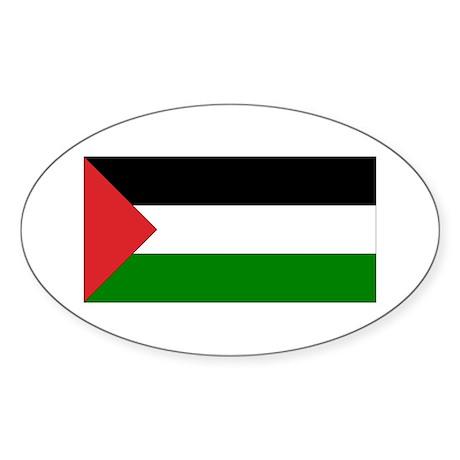 Palestinian Flag Oval Sticker
