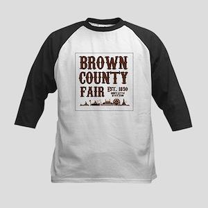Brown County Fair (Border) Kids Baseball Jersey