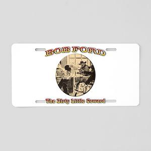 Bob Ford Aluminum License Plate