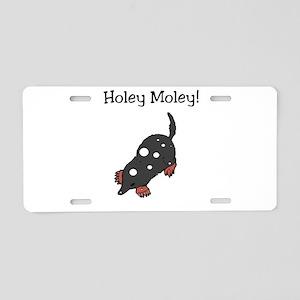 Holey Moley Aluminum License Plate
