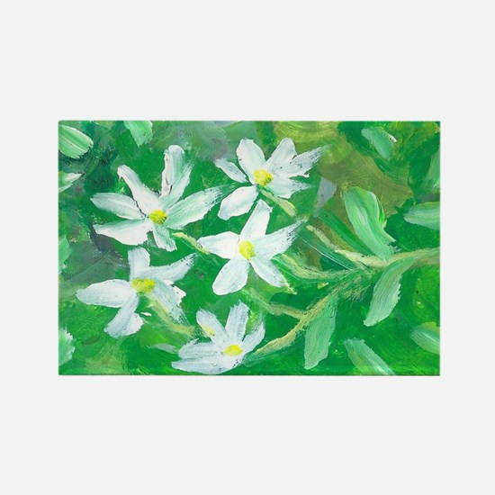 White Flowers Magnet