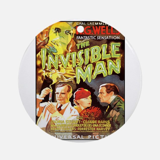 The Invisible Man Ornament (Round)
