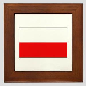 Polish Flag Framed Tile