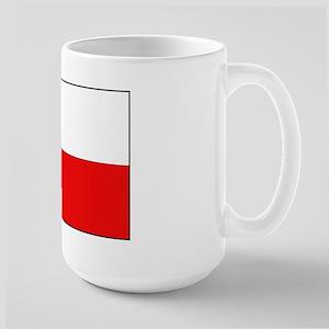 Polish Flag Large Mug