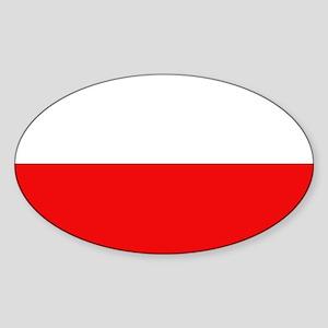 Polish Flag Oval Sticker