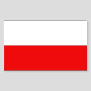 Polish Flag Rectangle Sticker