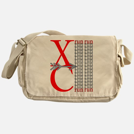 XC Run Red Gray Messenger Bag