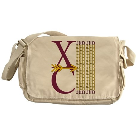 XC Run Maroon Gold Messenger Bag