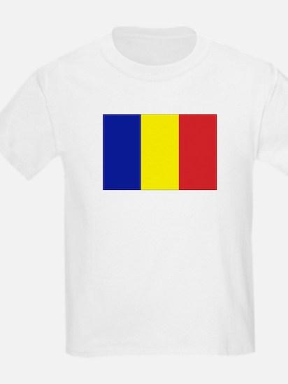 Romanian Flag Kids T-Shirt