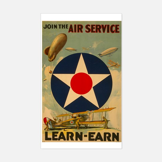 1917 WWI Poster Air Service Rectangle Decal