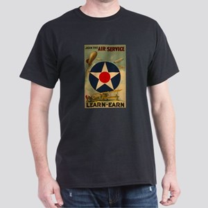 1917 WWI Poster Air Service Black T-Shirt