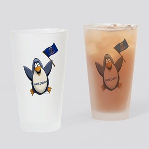North Dakota Penguin Drinking Glass