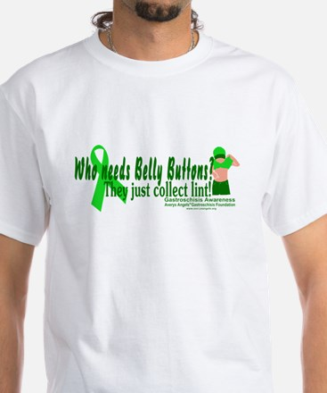 Who needs Belly Buttons? They White T-Shirt