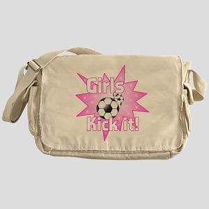 Girls Kick It Soccer Messenger Bag