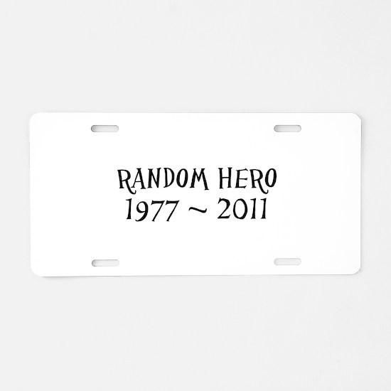 Cute Ryan Aluminum License Plate