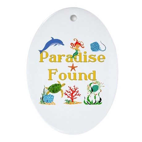 Paradise Found Oval Ornament