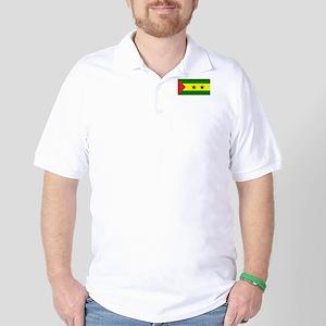 Sao Tomé Príncipe Flag Golf Shirt