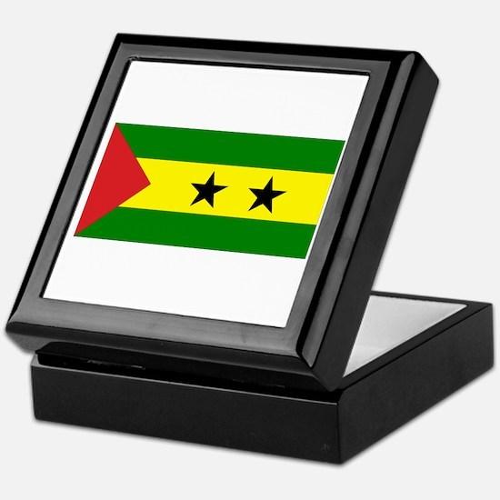 Sao Tomé Príncipe Flag Keepsake Box