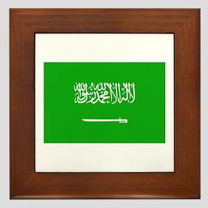 Saudi Arabian Flag Framed Tile