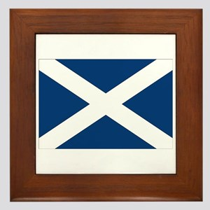 Scottish Flag Framed Tile