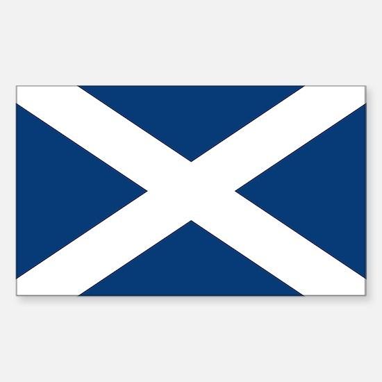 Scottish Flag Rectangle Decal