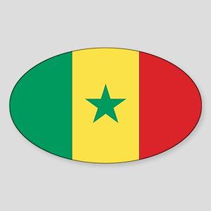 Flag of Senegal Oval Sticker