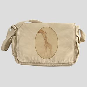mom & baby giraffe Messenger Bag